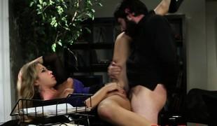 Slut Capri Cavanni pounded in office