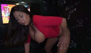 Latin Candi Cox with juicy booty needs cumshot badly
