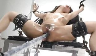 Compelled up japanese gets fucked by a nasty machine